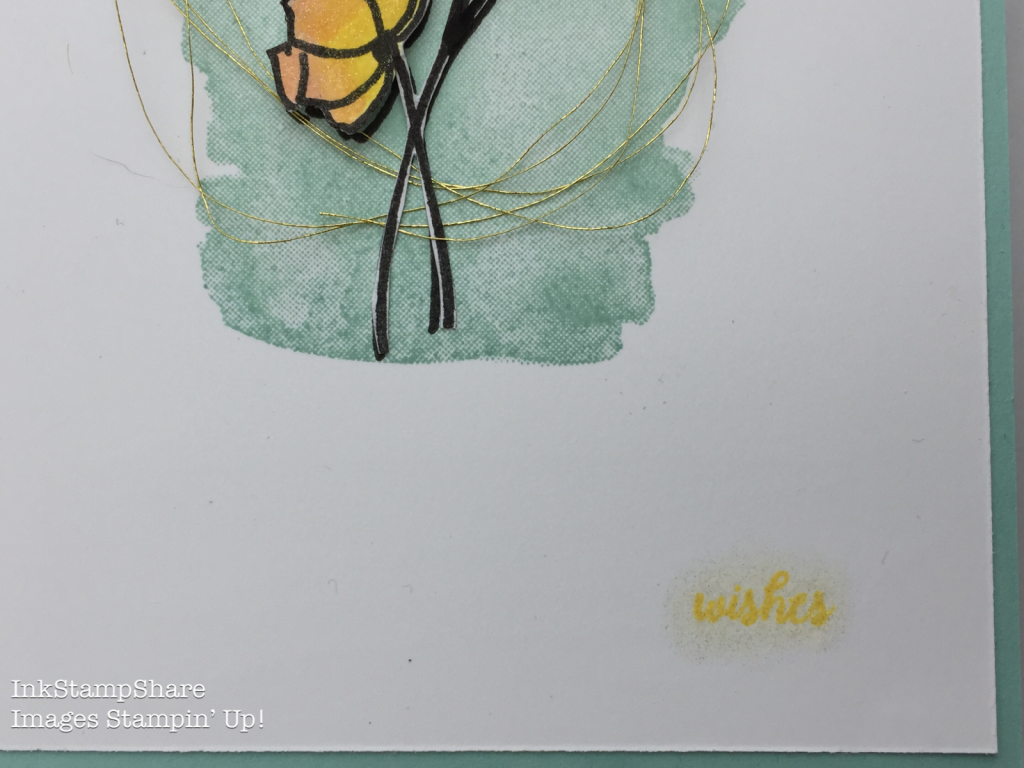 Sunshine Wishes card. Inspire Create Stamping Challenge 18. tabs for everything. wishes