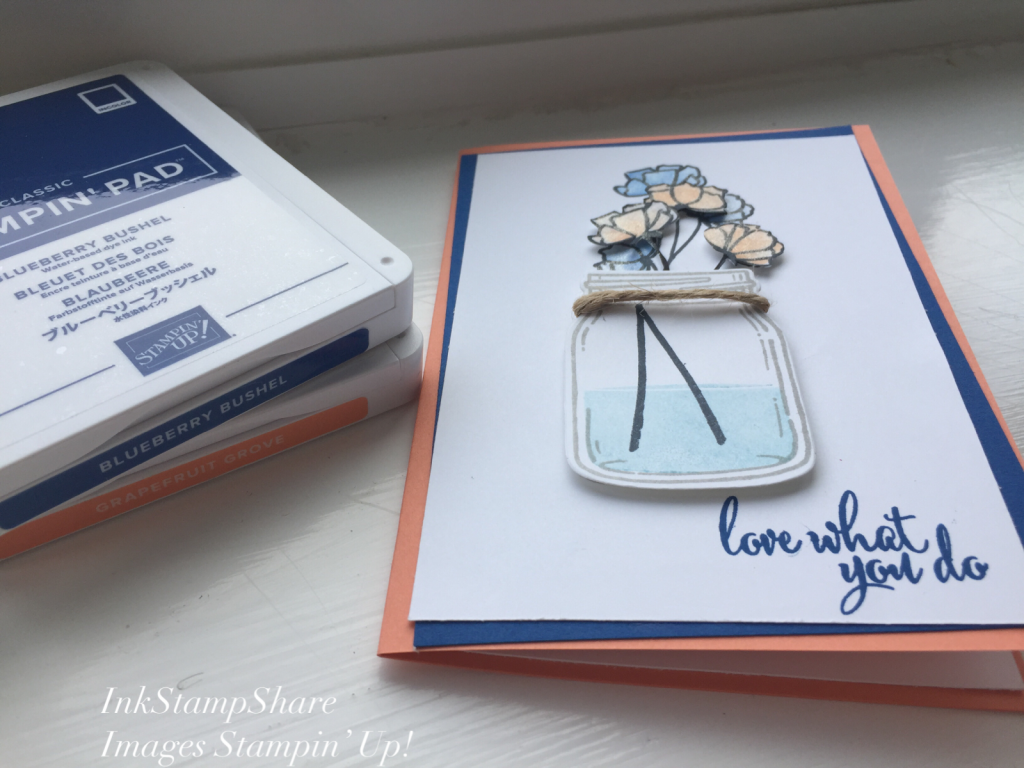 Jar Of Love, Love What You Do, In Colours Inspire Create Stamping Challenge