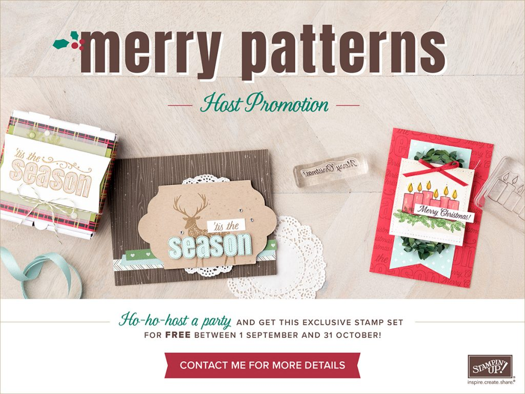 Host a party and earn Merry Patterns Stamp Set.