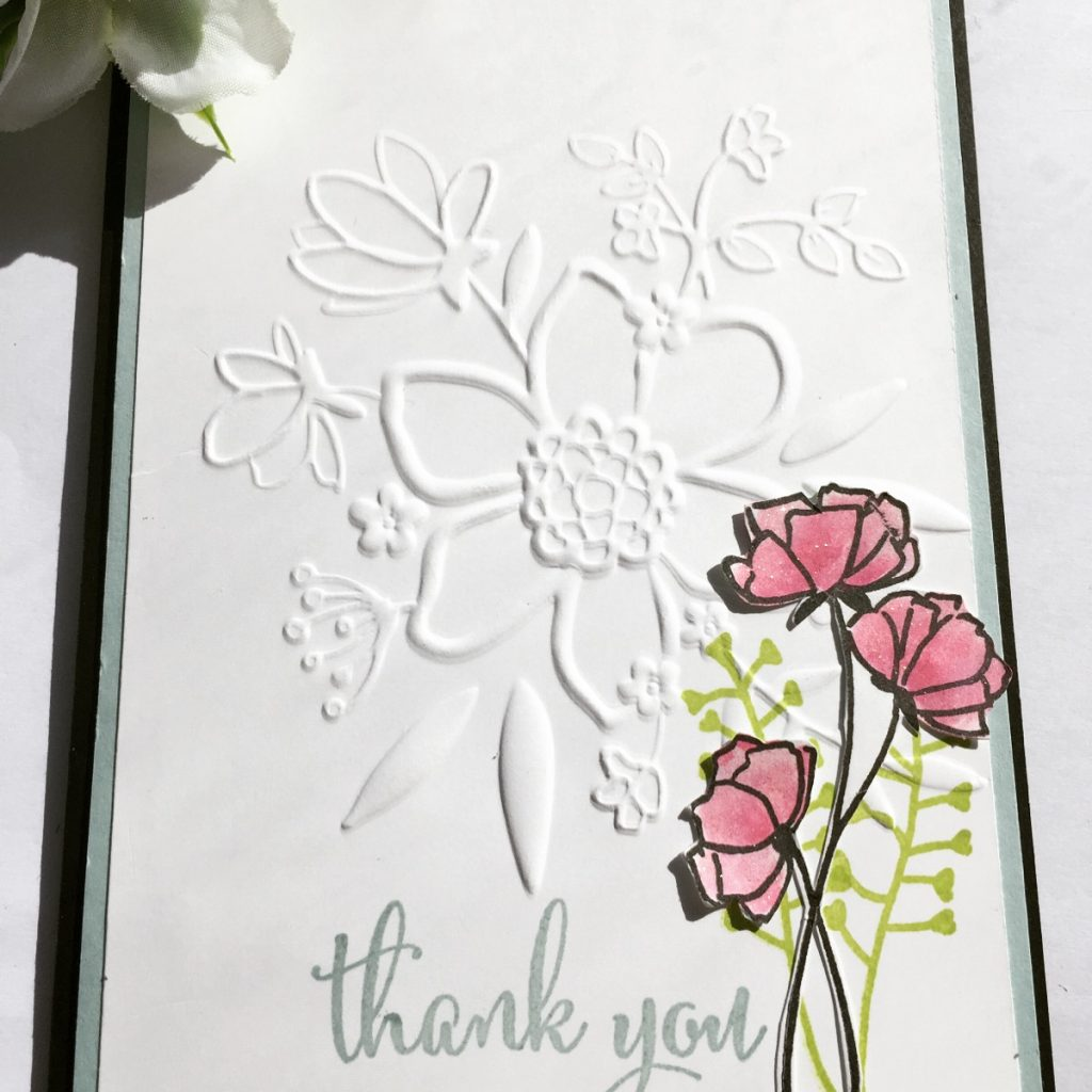 Lovely Floral Embossing Folder and Love What You Do stamps