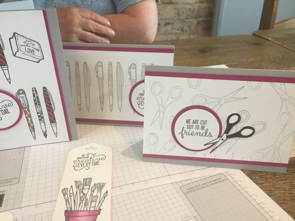 Cards made at coffee and cards using Crafting Forever stamps by stampin up