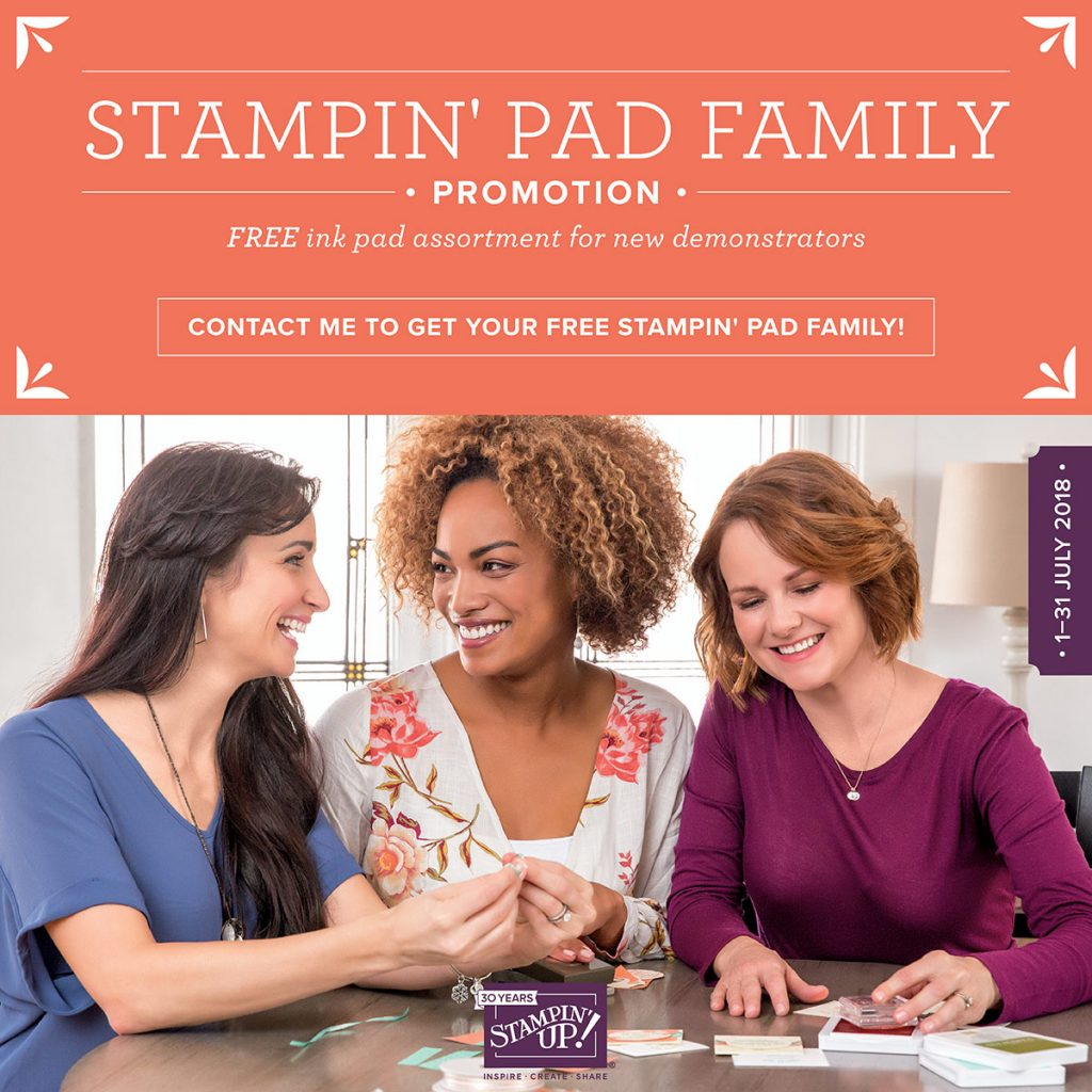 Stampin Up Ink Pad Offer July. Joining Offer. Ink Pads, Promotion