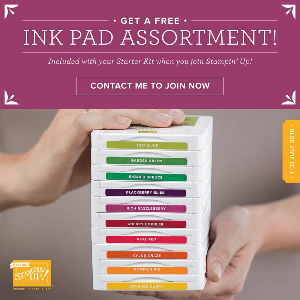 Stampin Up Ink Pad Offer July. Joining Offer. Ink Pads
