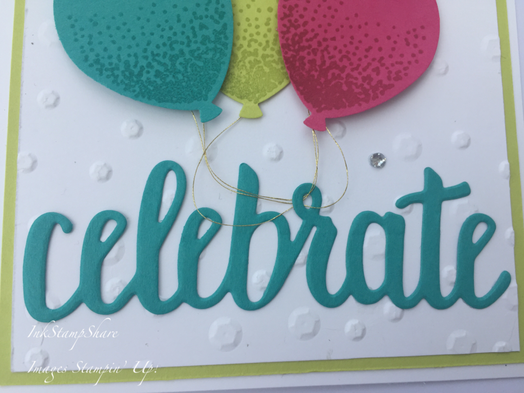 Balloon Celebrations card, Balloon Punch, Colour Challenge, Stampin Up,