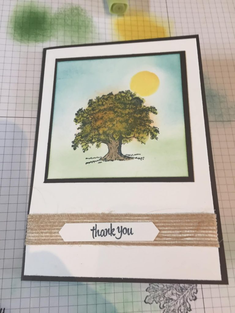 Lovely As A Tree cards. Thank you cards at Coffee and Cards. Stampin Up