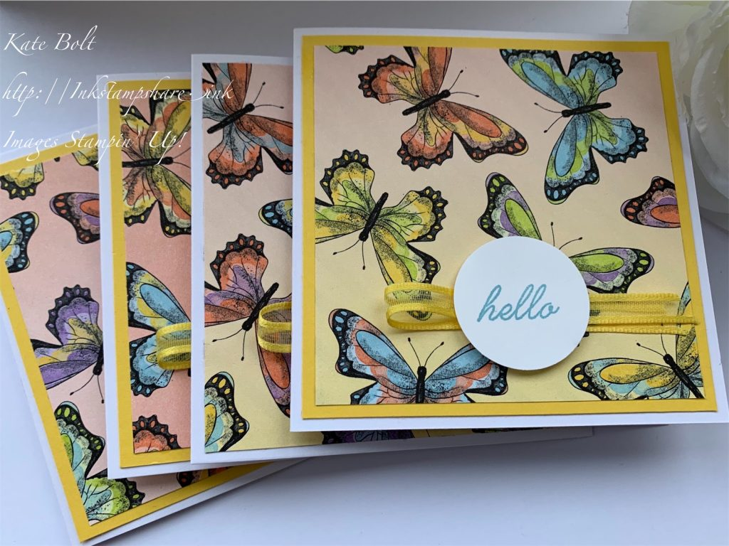Botanical Butterfly card. Buttertfly DSP Stampin Up, Saleabration