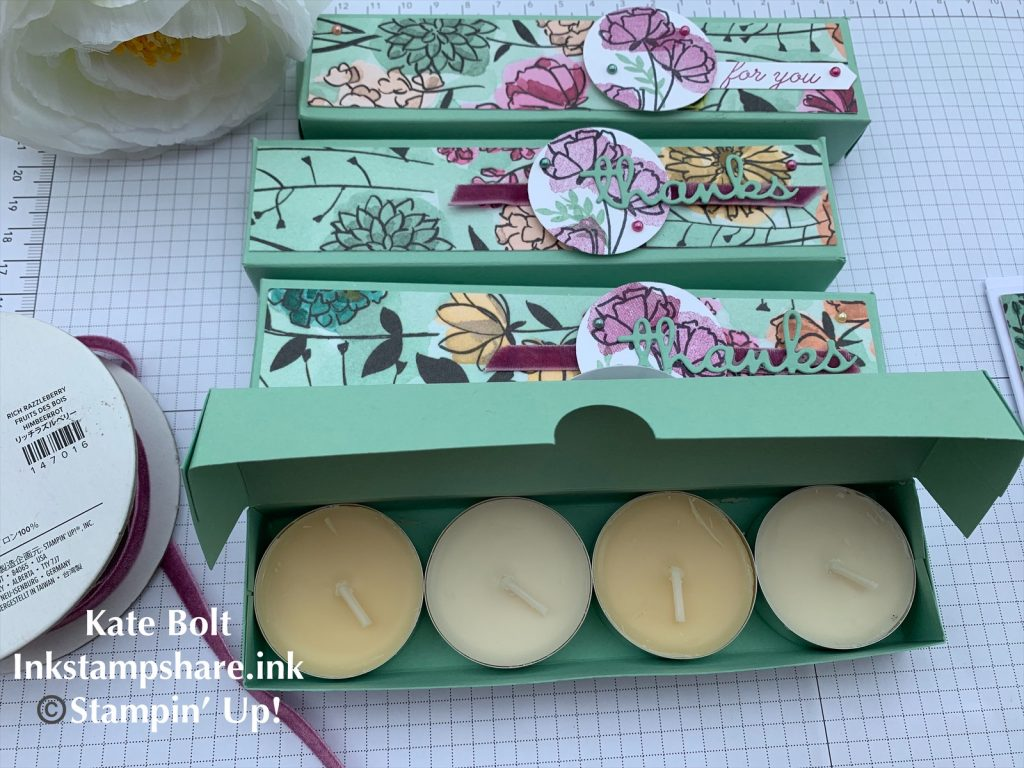 Hand made Tea light gift box for customer thank you gifts. Share What You Love.