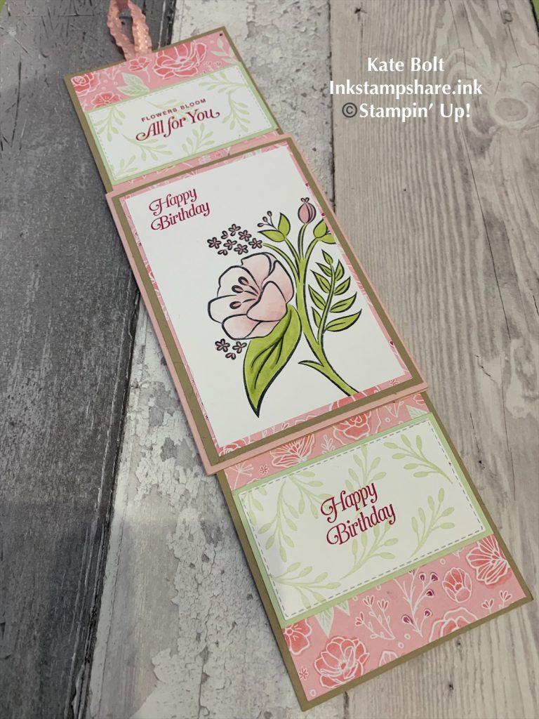 Double Slider card, fun fold card using All That You Are Stamps