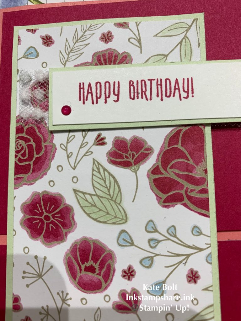 Birthday card for the Inspire Create Stamping Challenge #041