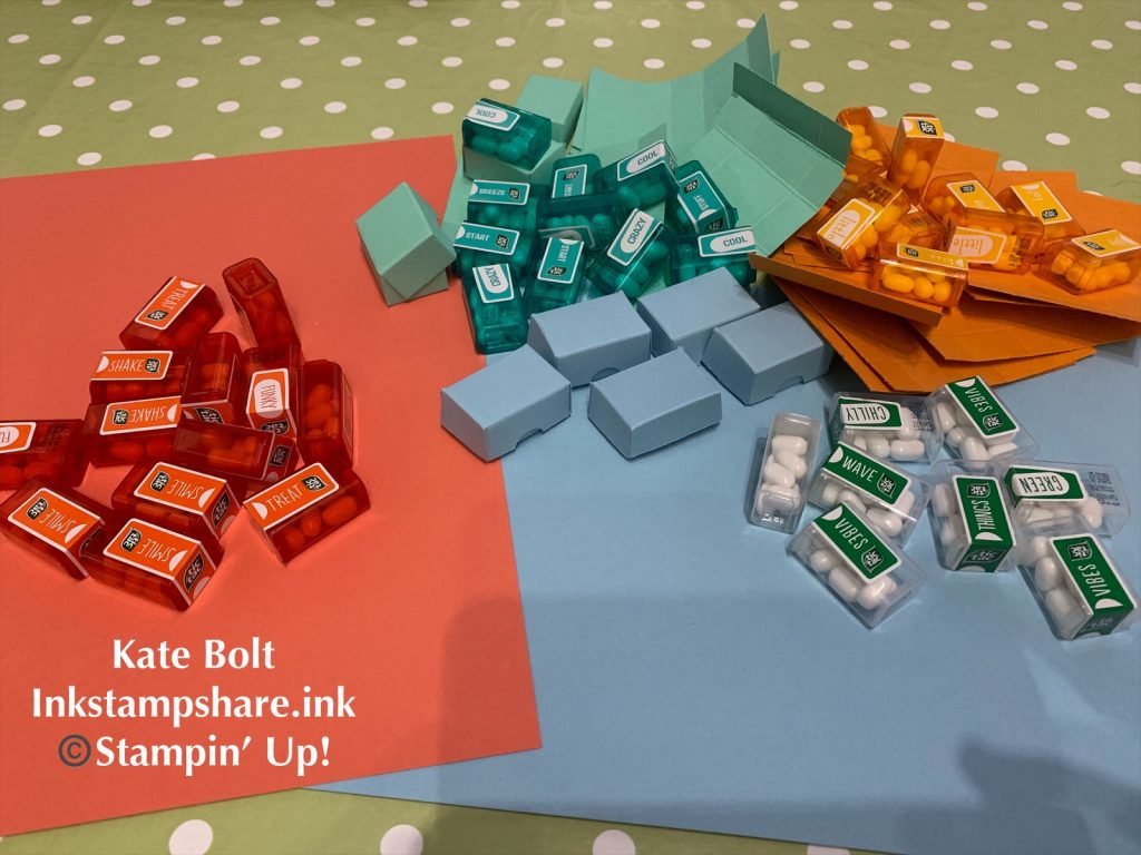 Boxes for mini tic tacs, You Tube Tutorial