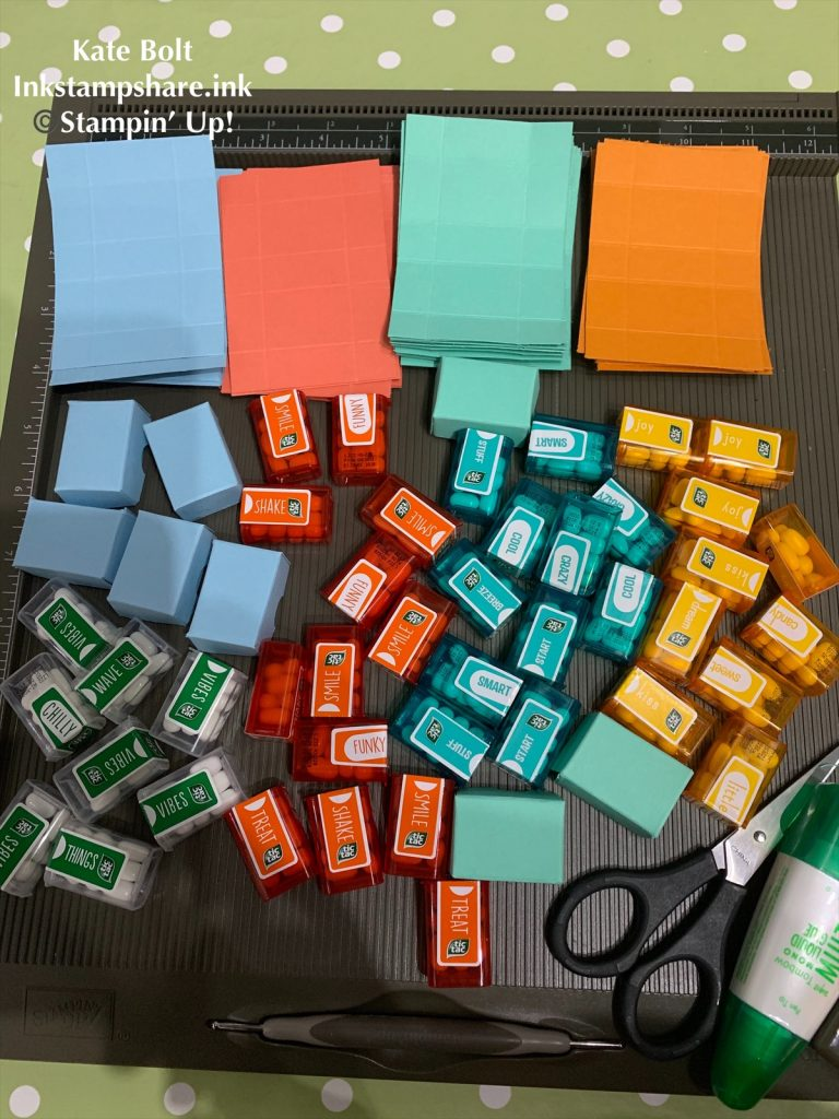 Boxes for mini tic tacs, You Tube Tutorial