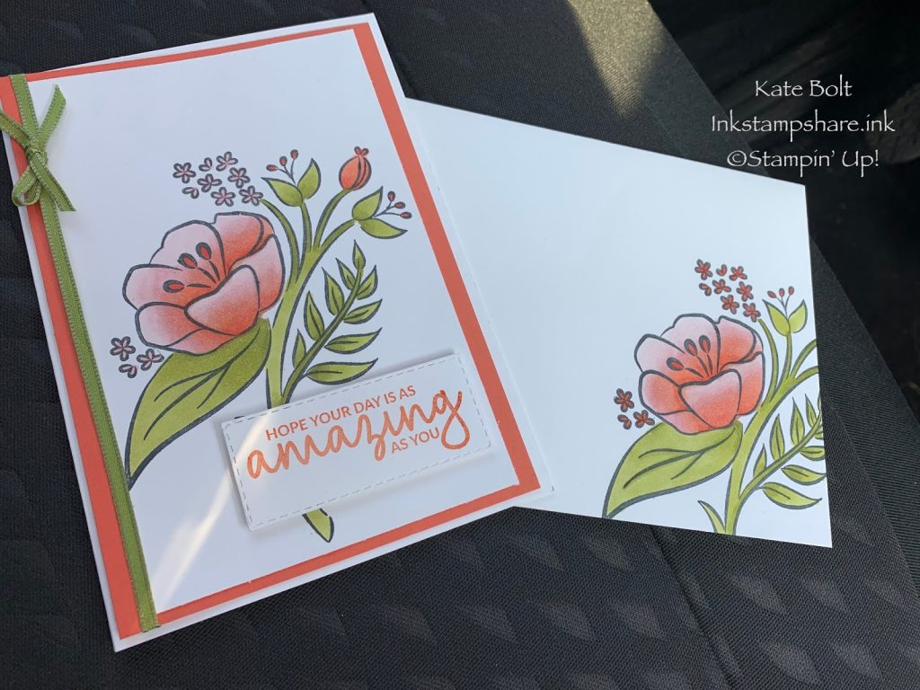 Spring time Floral themed card for the Stampers Showcase Blog Hop