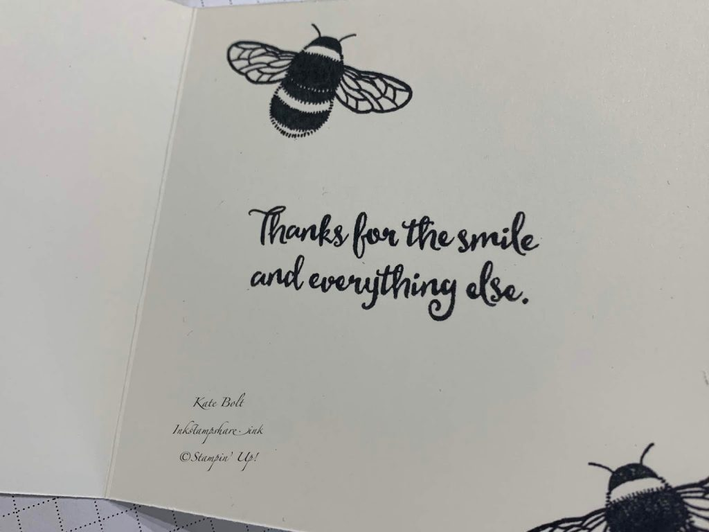 Dragonfly Dreams #simplestamping Card using the Bee from Dragonfly Dreams.