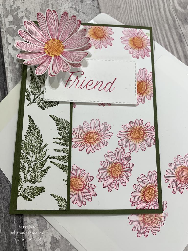 Daisy Lane Friend card. Stampin Up