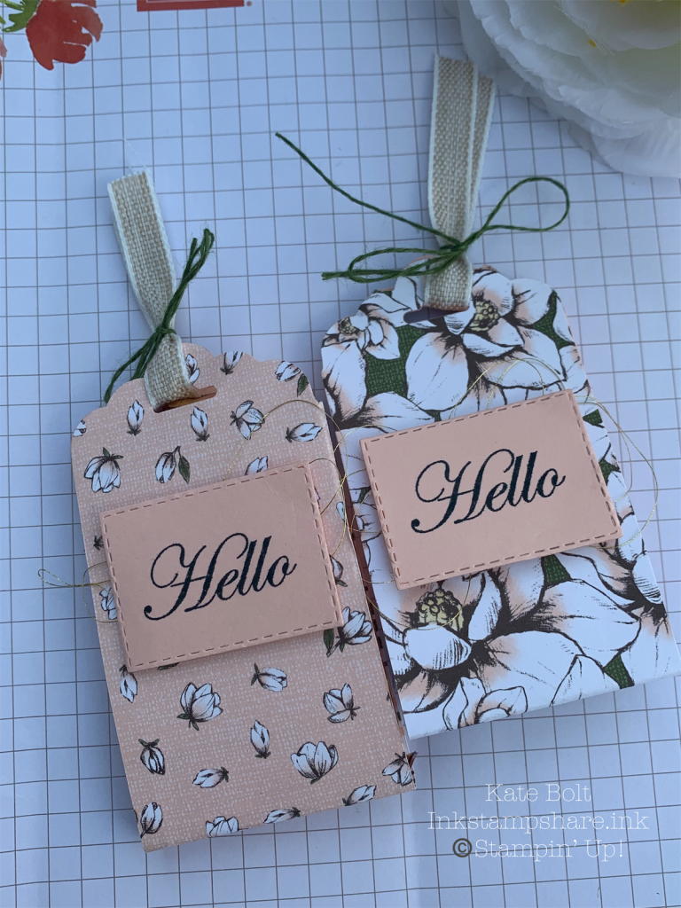 These treat holders are great for small gifts and table favours. made using Stampin Up products, for swaps for a team event.