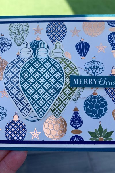 Hand made Christmas card with Brightly Gleaming Papers from Stampin' Up