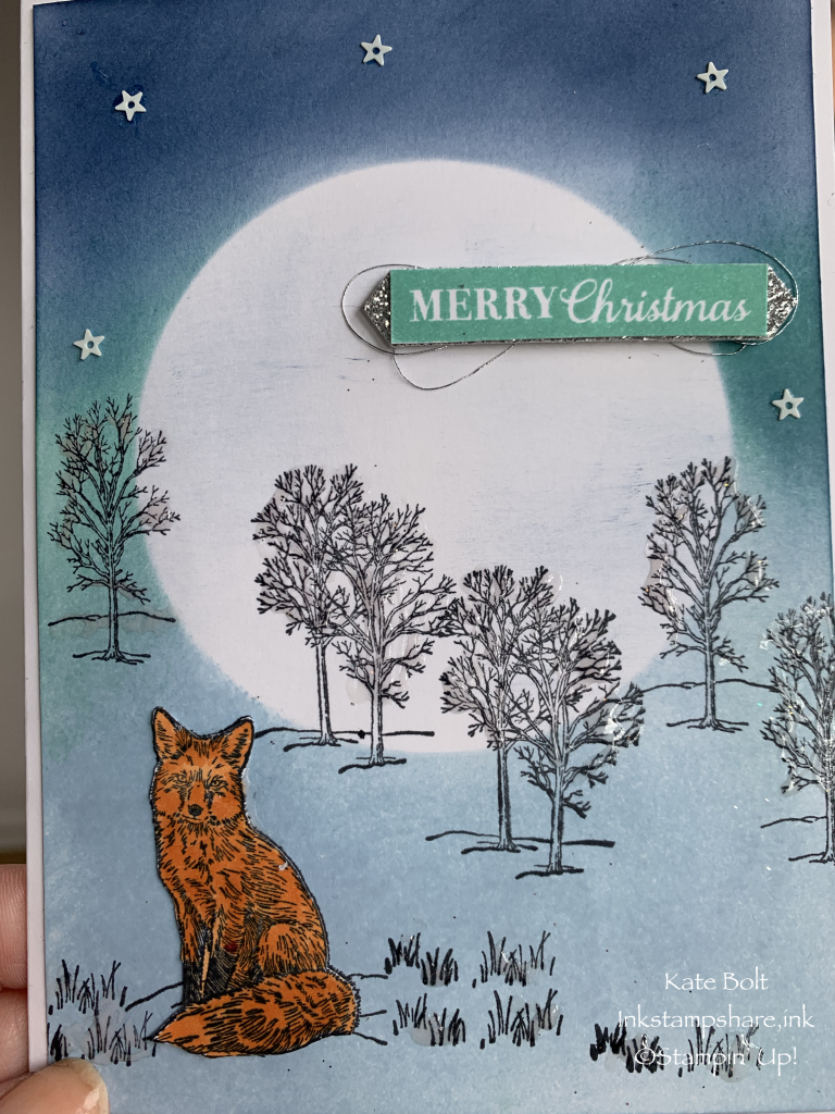 Hand made Christmas card using the Nature's Beauty stamp set by Stampin' Up!