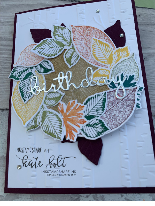 Card made for the Inspire Create Challenge #53. Wreath birthday card using the Rooted In Nature bundle Stampin' Up!