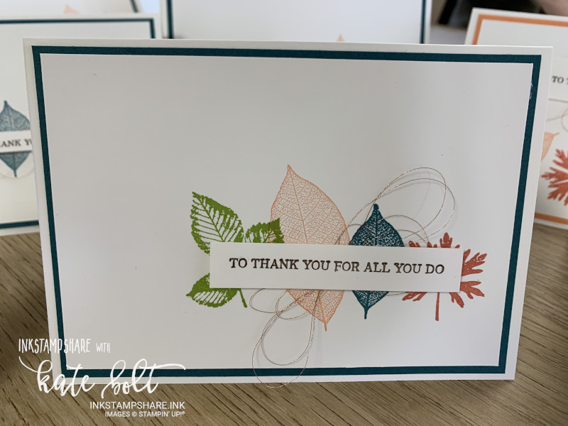 Thank you card using the Rotted In Nature stamp set at Coffee and  Cards.  #simplestamping