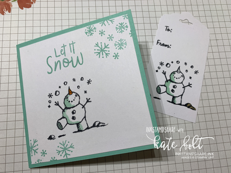 Snowman Season Christmas Card! A fun Christmas card featuring a cute juggling snowman. Created with some simple stamping.