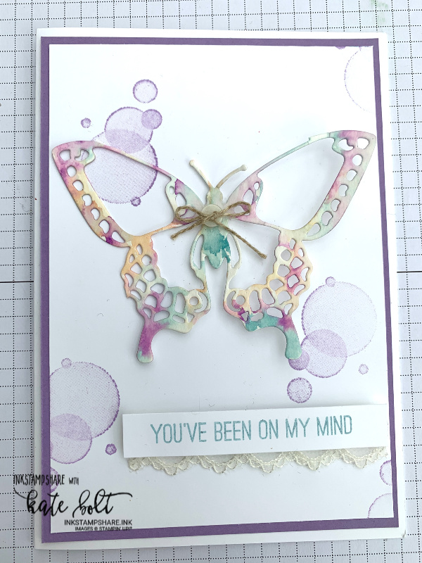 Butterfly Beauty - Catch my facebook live Coffee and  Cards replay showing you how I make this pretty butterfly card using Stampin' Up! products