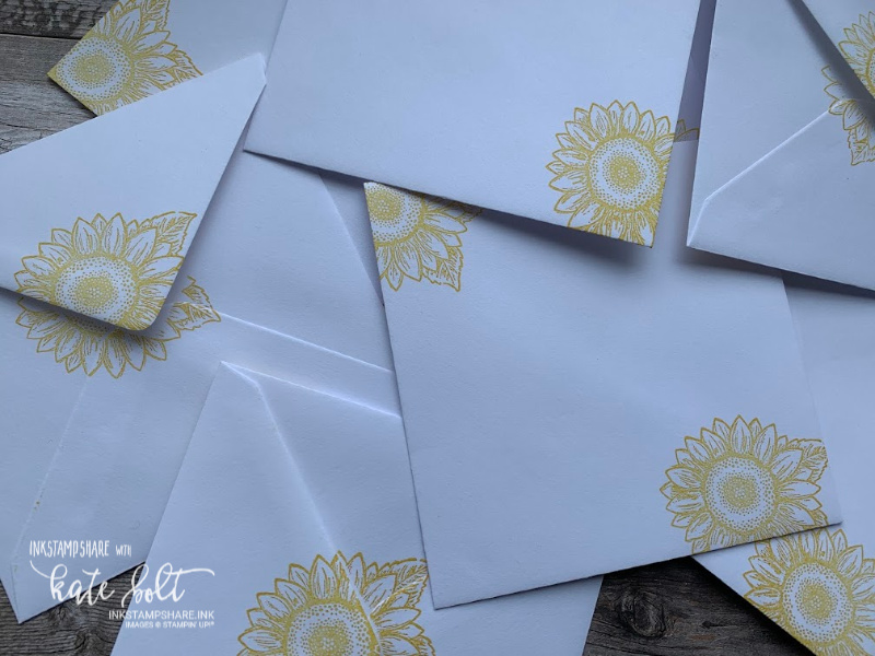 Celebrate Sunflowers Customer Thank you Cards.  Stamped envelopes