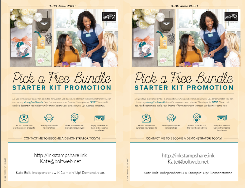 Pick A Free Bundle Starter Promotion June 2020