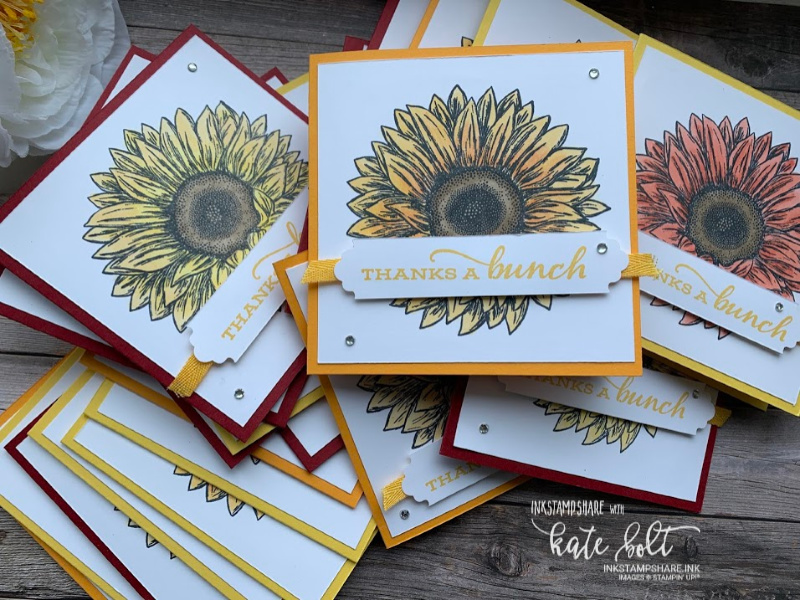 Celebrate Sunflowers Customer Thank you Cards.