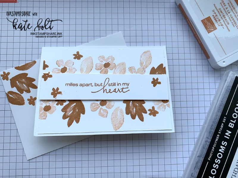 Simple card using the new 2020 Stampin Up In colours and #simple stamping with Blossoms In Bloom. Cinnamon Cider