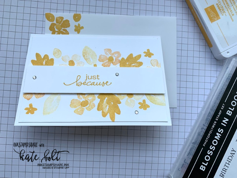 Simple card using the new 2020 Stampin Up In colours and #simple stamping with Blossoms In Bloom. Bumblebee