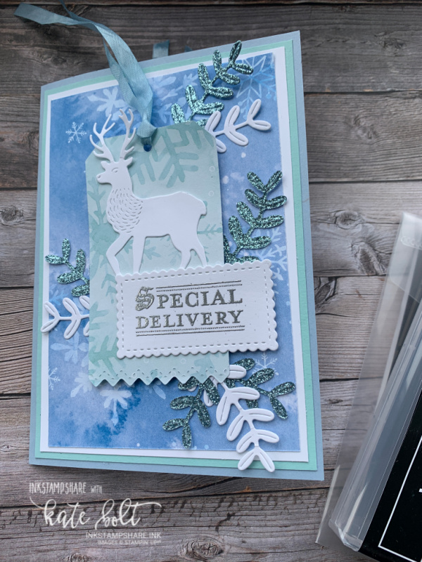 Wishes And Wonder Meets Snowflake Splendour for this hand made Christmas Gift Card Holder. Stampin Up