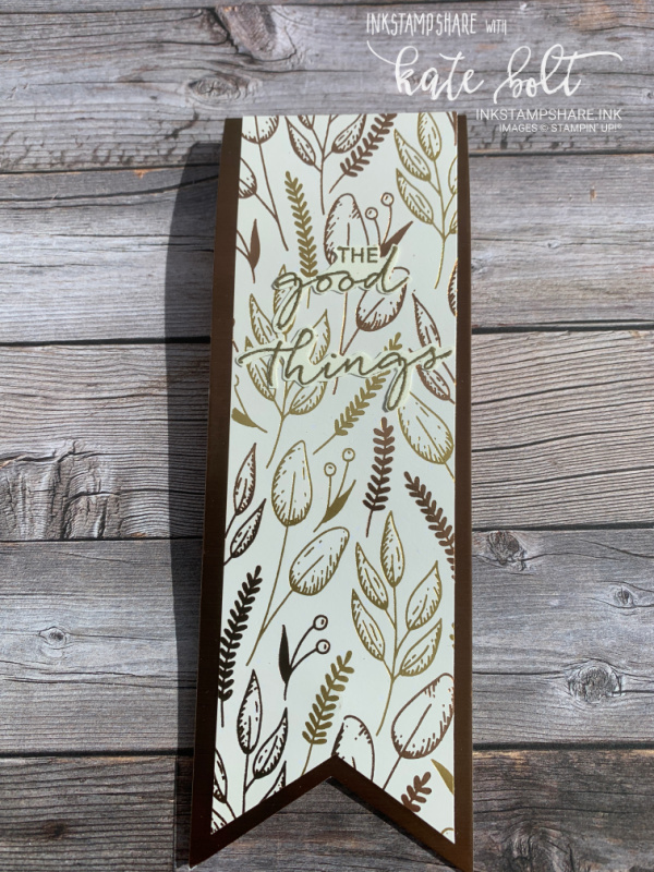 Magnetic Planner Book Mark with Guilded Autumn Papers and  the Triple Banner Punch