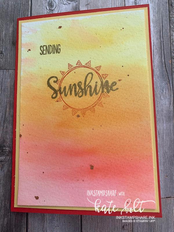 Sending Sunshine - Watercolour Card. Sending Sunshine watercolour card using the Box Of Sunshine stamps