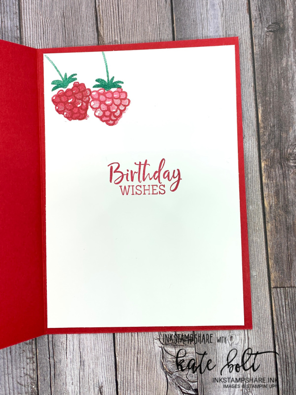 Berry Blessings birthday card, using the berry Blessings Bundle free from Saleabration. For Saleabration Sunday series on my YouTube channel