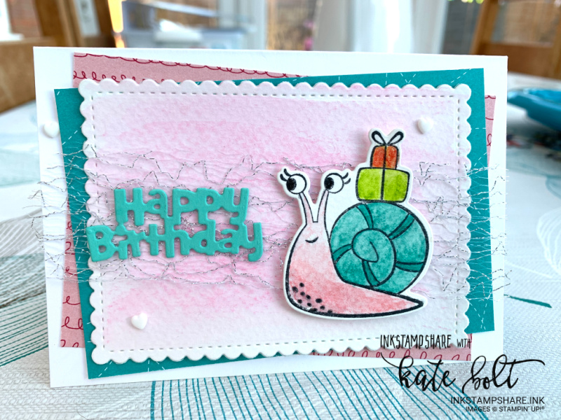 Fun birthday card for the March Positive Inkers Blog Hop using the Snail Mail Suit Bundle