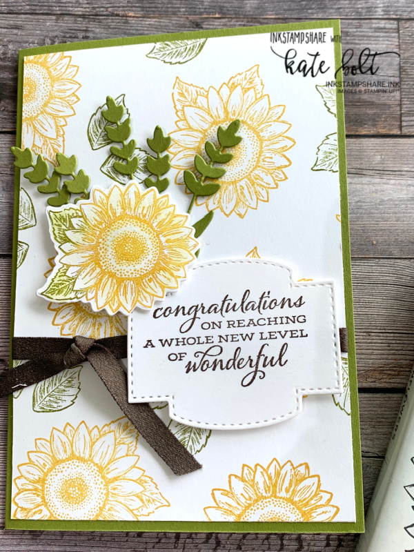 Patterned Backgrounds At Coffee & Cards. Using the Celebrate Sunflowers stamps to create a pretty sunflower background for the celebration card.Stampin Up!