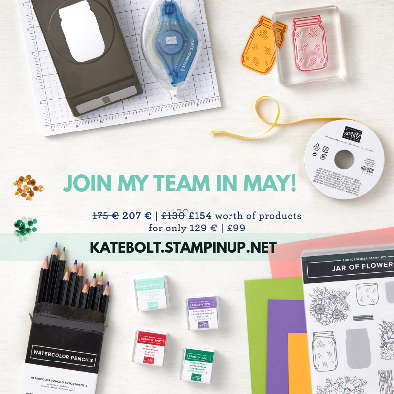Join Stampin Up promotion for May 2021. Katebolt.stampinup.net.