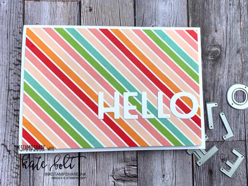 Using the Playful Alphabet Dies for a splash of colour for the Positive Inkers July Blog Hop. Letting the gorgeous Pattern Party DSP shine.
