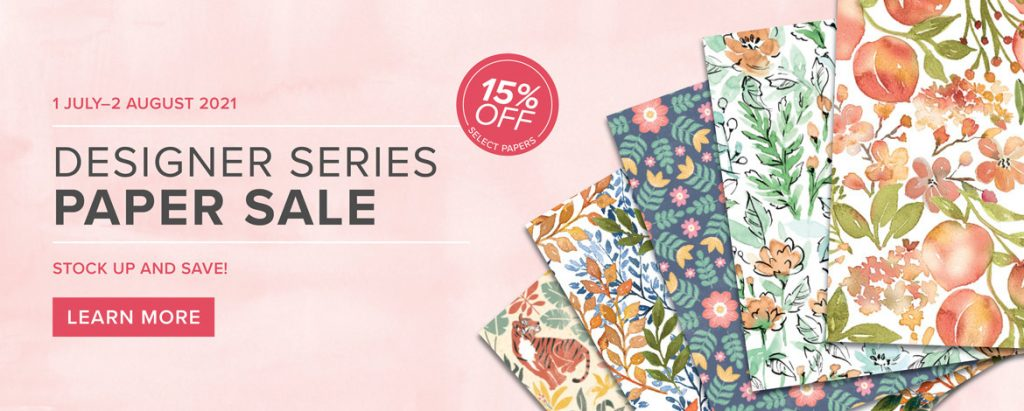 Designer series paper sale from Stampin Up!