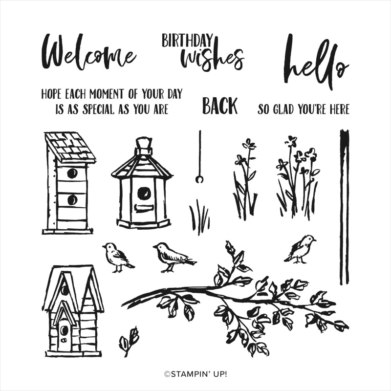 Garden Birdhouses stamp set from Stampin' Up!