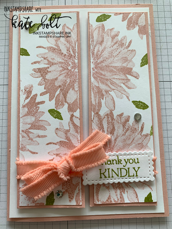 More Ways With Delicate Dahlias for Coffee and  Cards this week, using this Distinktive stamp to create beautiful congratulations and thank you cards.